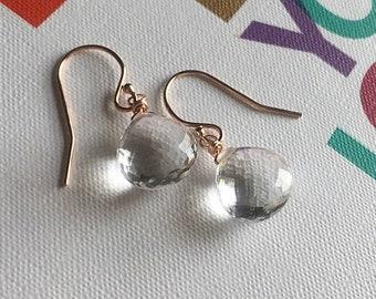 Crystal Quartz Earrings // Refined Bohemian // Boho Luxe // Boho Style // Bridal Earrings