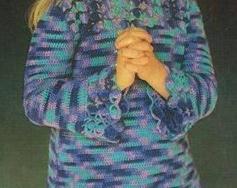 4078S girls dress crochet vintage pattern PDF instant download