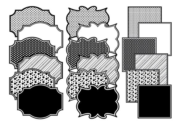 Frame clip art, Polka dot frames, Black frames, black stripes frame ...