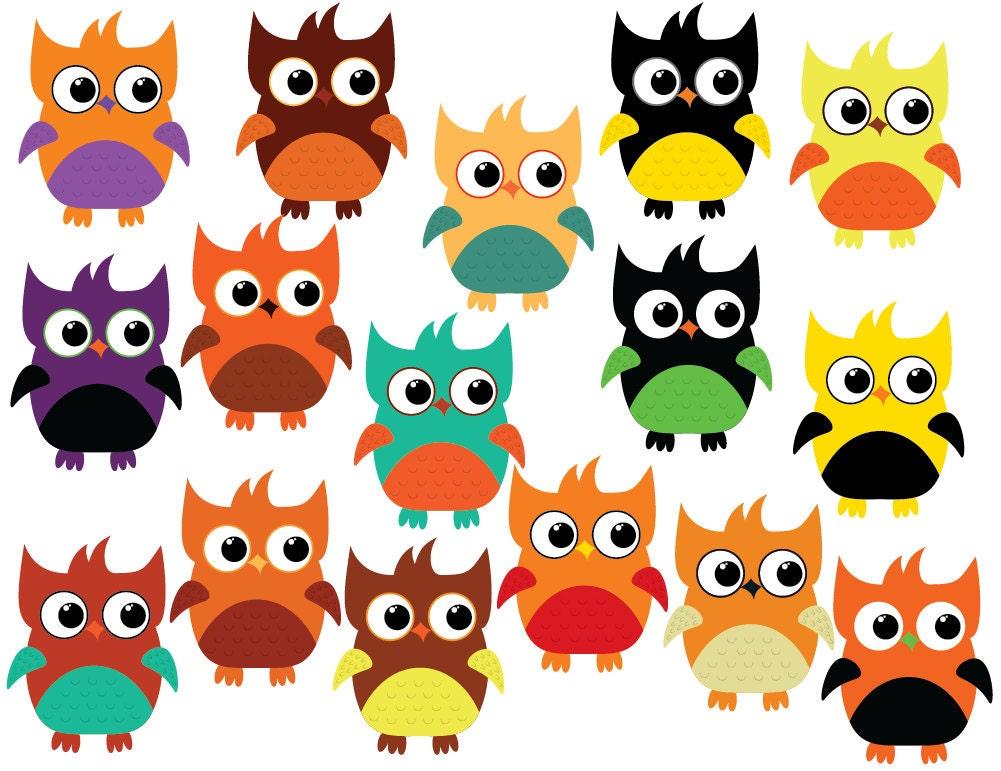 Halloween clipart owl clipart cute owl clipart digital | Etsy