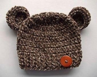 Baby Mädchen Bär Bär Mütze Creme Bär Hut Häkeln Bär Hut Baby Etsy