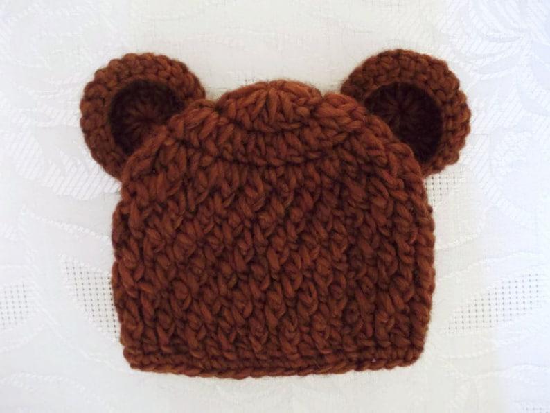 c3c0b16db9c Newborn bear hat baby boy hat baby hat with ears teddy bear