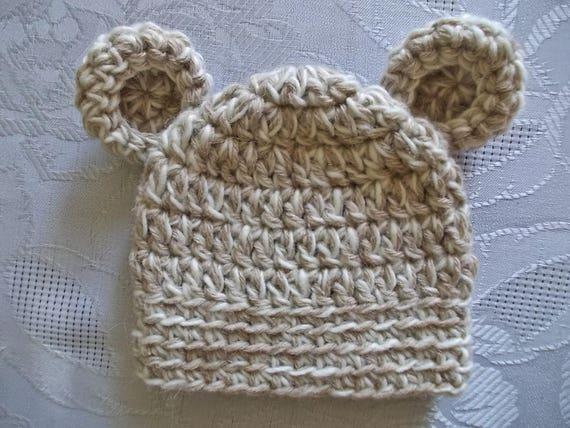 Baby Mütze Baby Bär Hut Neugeborenen Bär Hut Häkeln Baby Mütze Etsy