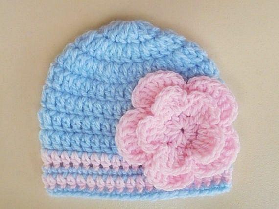 Häkeln Sie Babymütze Neugeborene Mädchen Hut Etsy