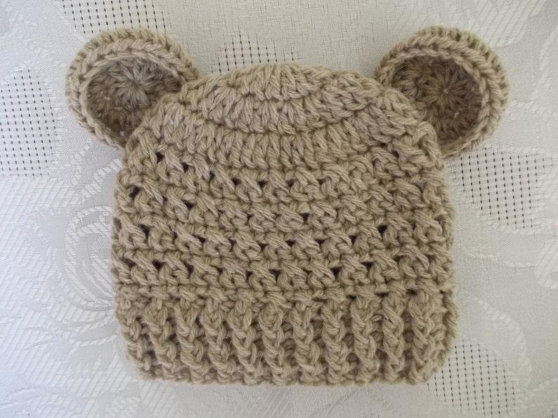f4935c58795 Sale Baby bear hat newborn bear hat baby boy hat crochet