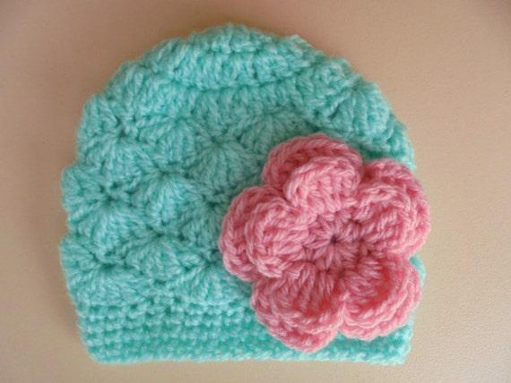 Neugeborene Mädchen Hut Häkeln Babymütze Baby Mädchen Hut Etsy