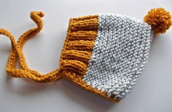 Wolle Baby Motorhaube Pom Pom elf Mütze stricken elf Hut | Etsy