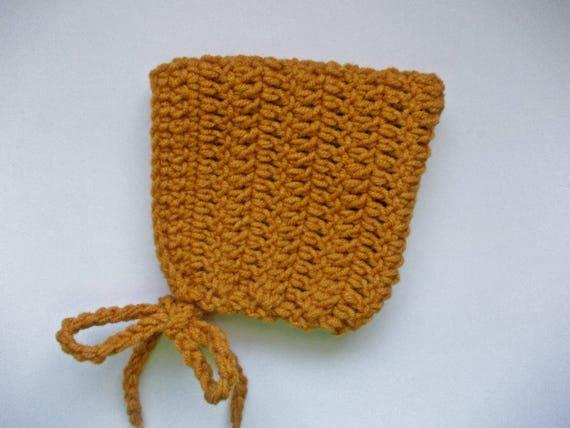 Wolle-elf Mütze Senf gelben Hut einfach Baby Mütze häkeln Baby   Etsy