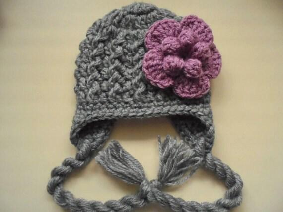 021bb45f32e Newborn girl hat baby earflap hat baby girl hat winter baby