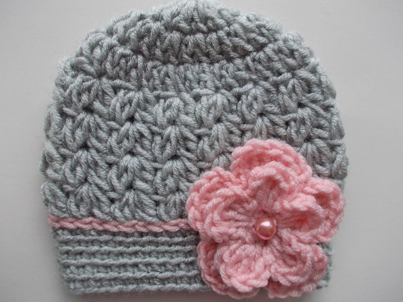 35bc45066a9 Crochet baby hat Baby girl hat Newborn girl hat Girl hospital