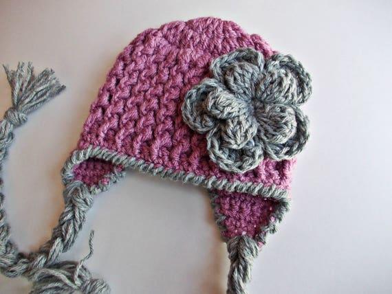 b9ee9346f79ef Earflap baby hat newborn girl hat hat with earflaps baby