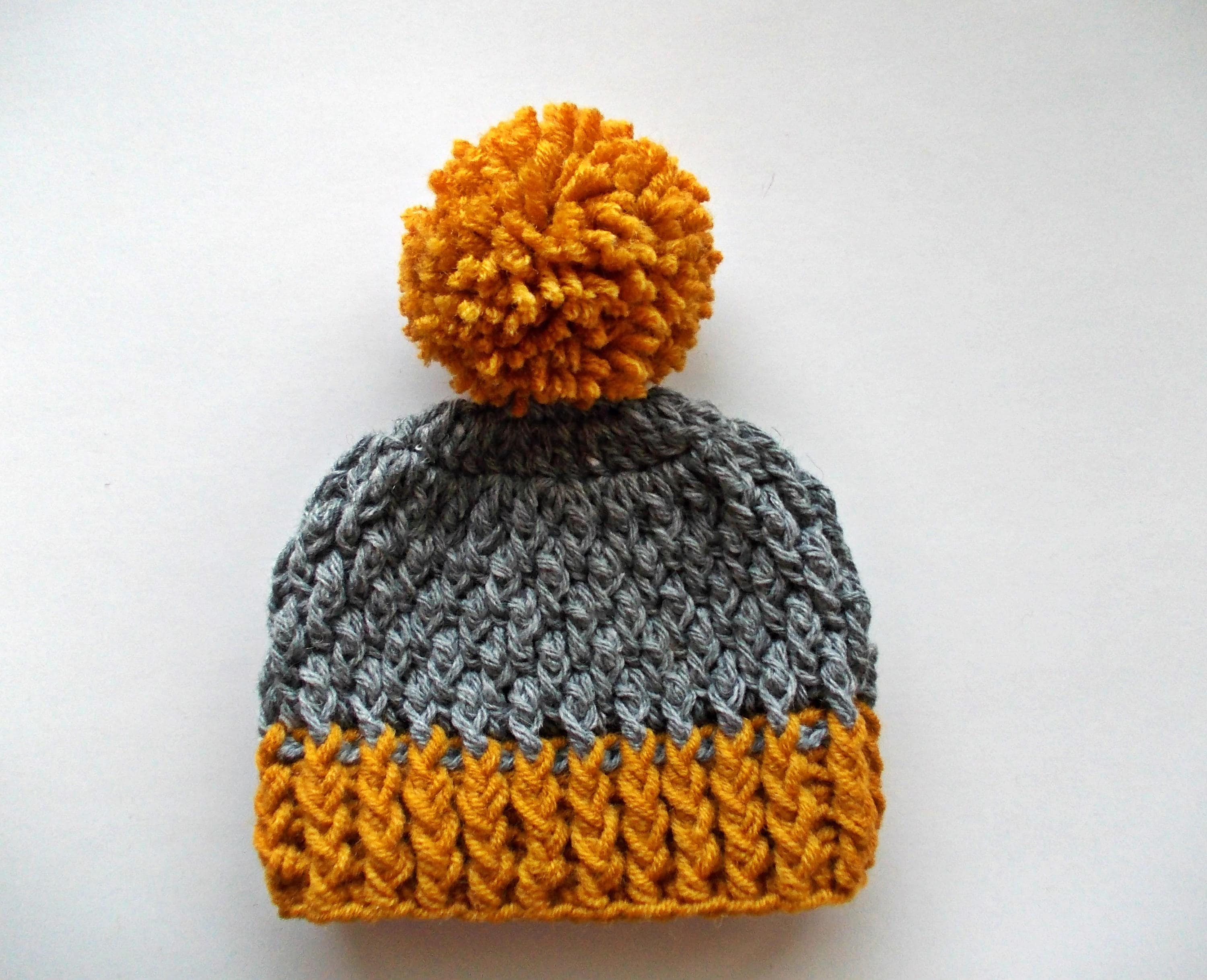 Wool baby hat Boy pom pom hat Crochet baby boy hat Wool  728705cc929