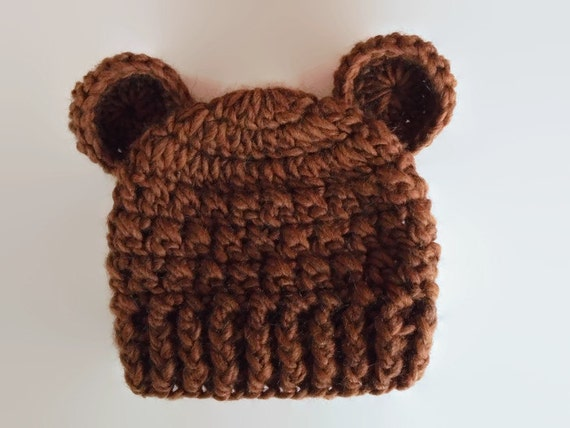Newborn bear hat baby hat with ears animal baby hat baby  1787817532e