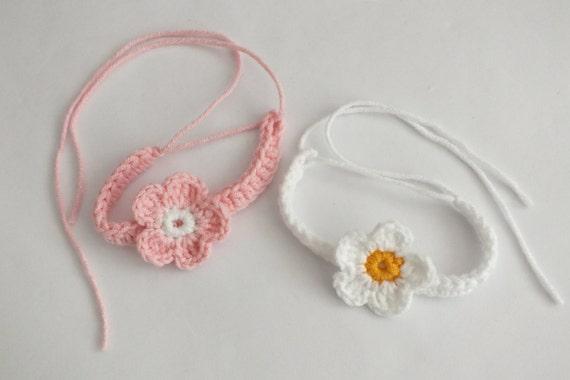 Twin id bracelets anklets baby newborn crochet adjustable
