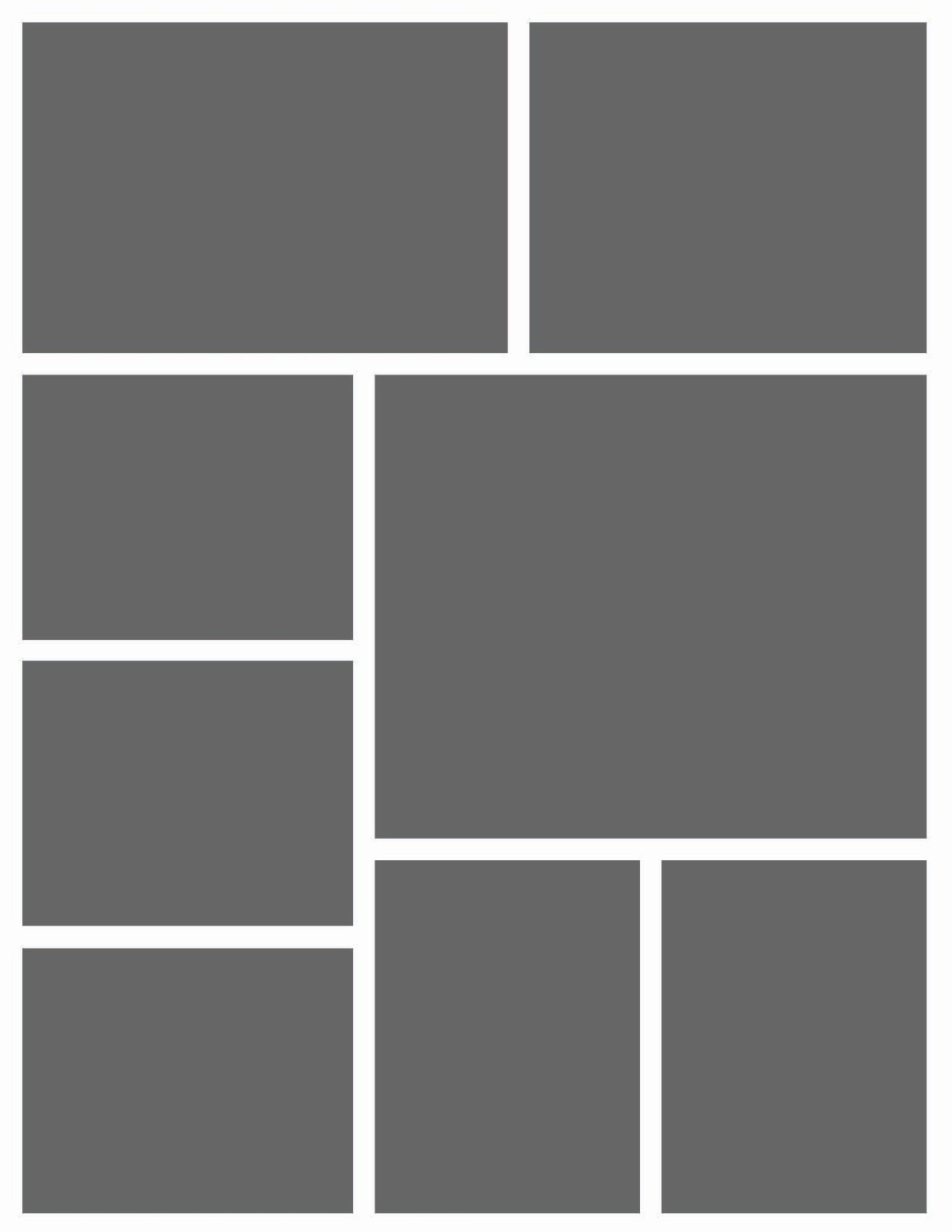 Instant Download 85x11 Storyboard Photographers Template Etsy