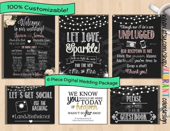 Wedding Chalkboard PrintablesWelcome To Our WeddingGuestbook