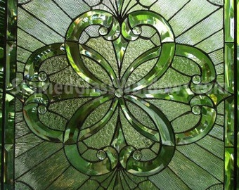 Heavily Beveled Clear Textured Stained Glass Window We Do Custom Work Email Me For Quote