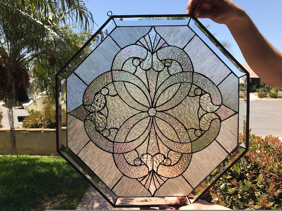 Beautiful Octagon Beveled Stained Glass Window Panel We Do