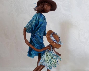 Dancing Abstract SculptureBlackWhiteDancer GiftsGifts for HerCouples giftCeramicElegance StatuesWedding giftAnniversary