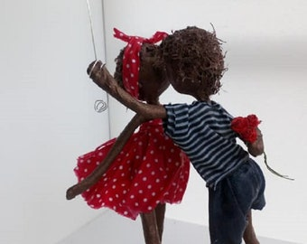 Will You be my Valentine. Mixed media Sculpture. Weddings/anniversaries. Available
