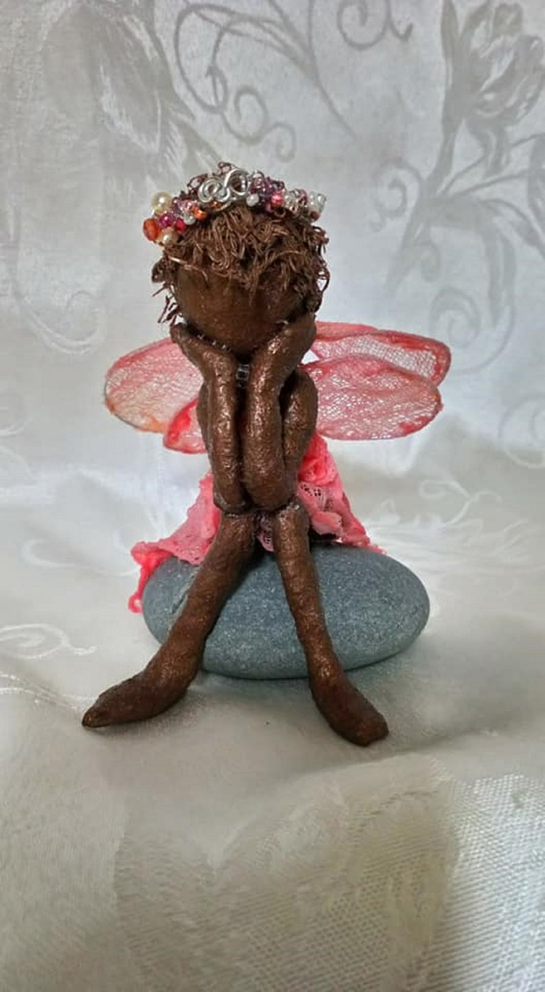 A Penny for Your Thoughts. Tiny fairy. Fairy Sculpture. Made image 0