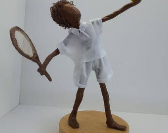 Little Tennis Player Sculpture. Made to Order