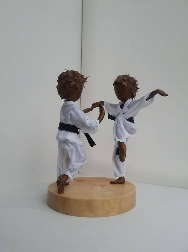 Karate Kids. Mixed Media sculpture. Made to order. image 0