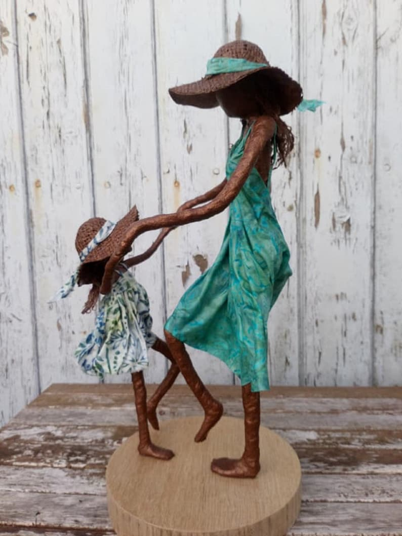 We will Dance Again  Sculpture of Mother and Daughter. Made image 0