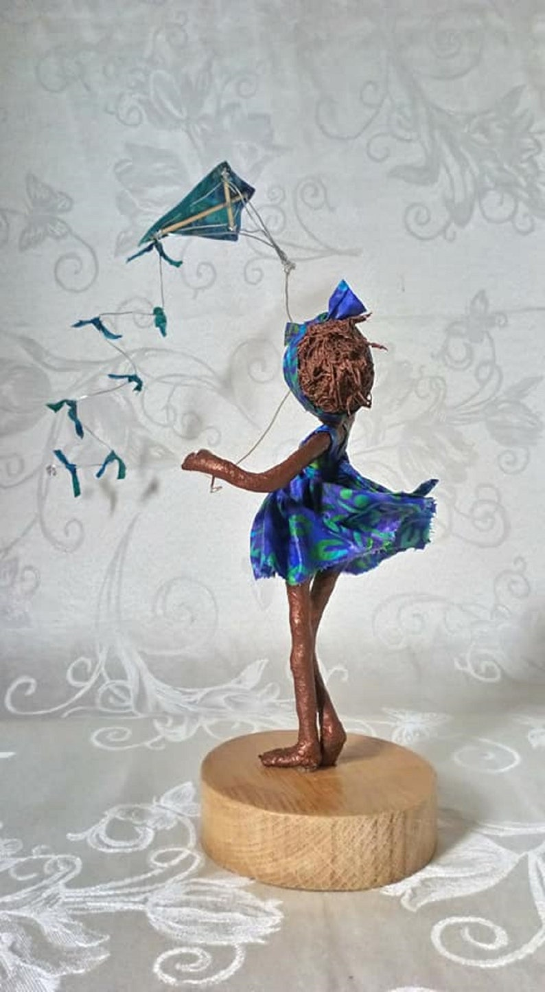 Kite Flyer   Girl with kite. Made to order image 0