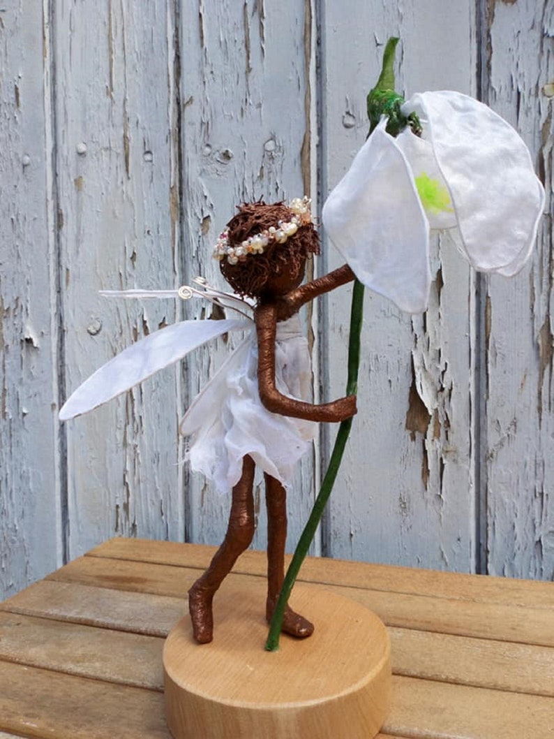 Flower Fairy Sculpture.  Made to order image 0
