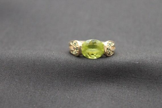Peridot Gemstone 14k Gold