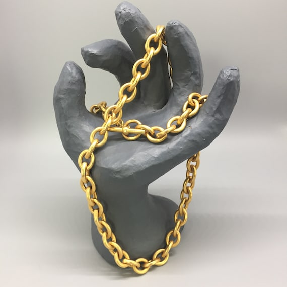 Vintage Sterling and Gold Bold Chain