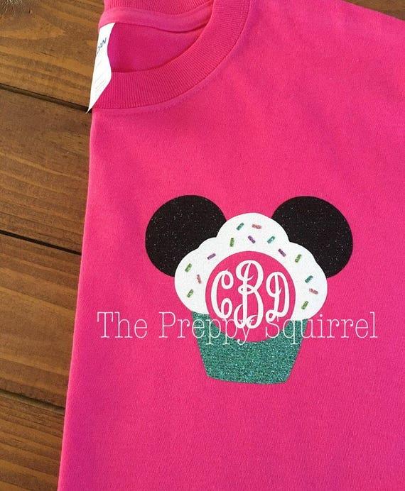 Birthday Mouse Monogram Shirt Cupcake Monogram Matching