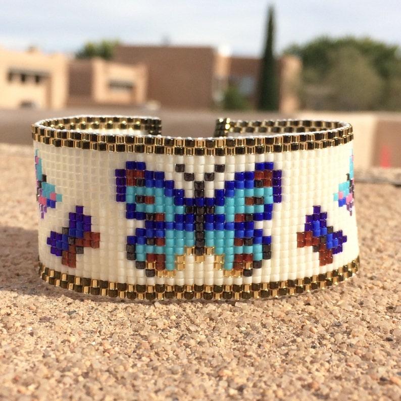 85089e8086b3 Mariposas del grano telar pulsera Boho Chic bohemio regalos