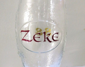 Personalized Beer Glass, Football Shaped Beer Glass, Custom Gift, Football Season Stein,Sports Gift,Father's Day,Gift for Him,Groomsmen Gift