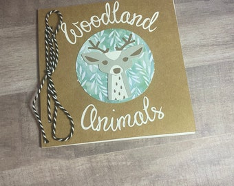 Woodland Animals Coloring Book