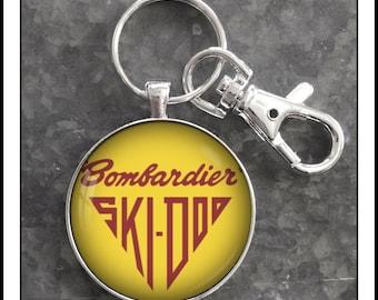 Premium Quality Key Tag for Snowmobile KEYTAILS Keychains Sled Snowmobile - Heartbeat