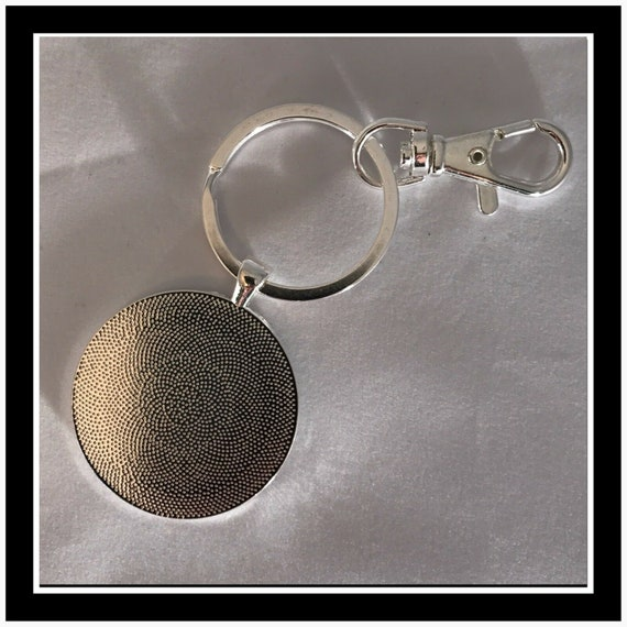 Ford Racing Tachometer Photo Keychain Charm Pendant