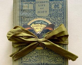 Butterfly Altered Book Junk Journal, Handmade Gift for Her, Antique 1914 Lockhart's Life of Scott, Gratitude Journal, Retirement Gift
