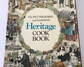 Vintage 1976 Hardback Better Homes and Gardens Heritage Cookbook with Slipcase