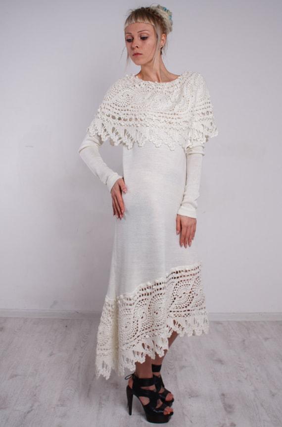 Mit weiße spitze kleider Empirekleid Calue