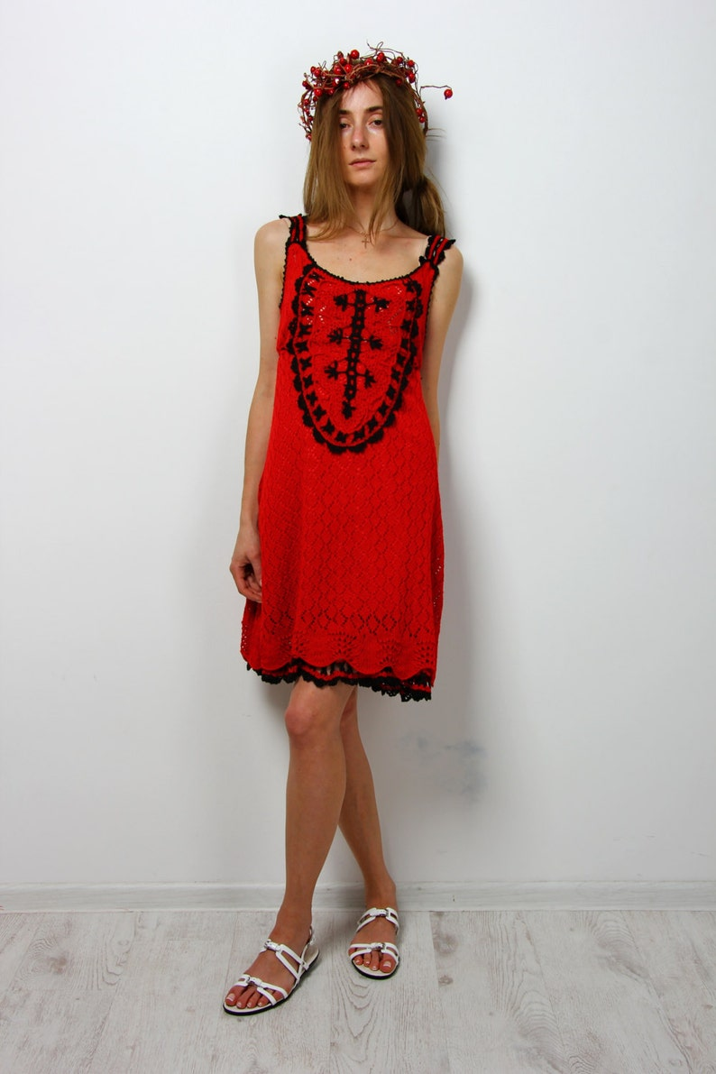0dc550fad93 Crochet dress viscose midi sundress handmade lacy dress