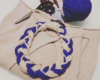 Collane fettuccia intreccio - jersey necklace
