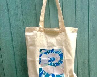 Beach canvas tote bag