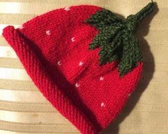 Strawberry Shortcake Baby Hat