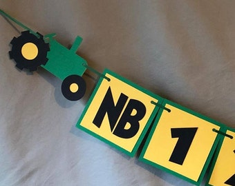 Tractor Photo banner. Great for Birthday Parties. Farm Tractor. Free Shipping