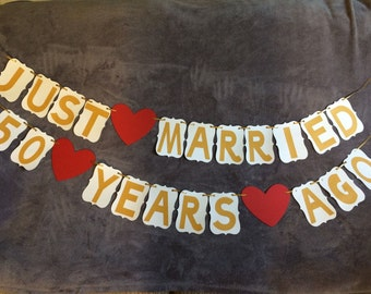 anniversary banner etsy