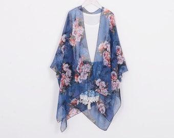 cd4fc794c3 blue floral kimono,kimono jacket,beach kimono,boho kimono,cardigan,chiffon  cover up,chiffon kimonos,dress kimono,kimono cardigan,kimono