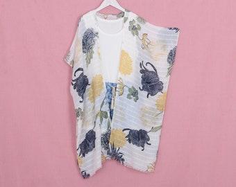 75bff491f7 long bohemian kimono, calliopsis kimono,kimono jacket,kimono cardigan,long beach  kimono,cover up,shrug,beach boho dress,071#