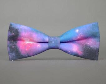 galaxy bow tie,starry bow tie,handmade blue men's bow tie, men bow tie, bow tie for men, bow tie men, wedding bow tie, groomsmen bow tie